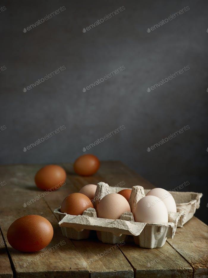 frische natürliche Bio-Eier