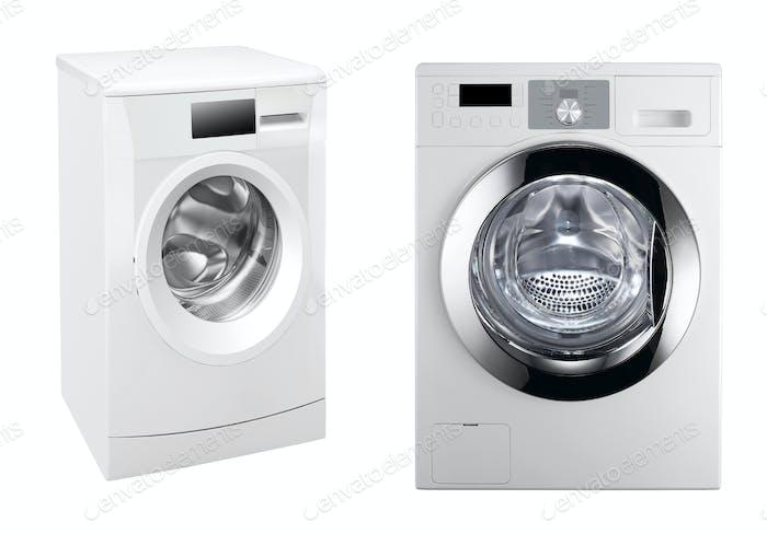 washing machines isolated