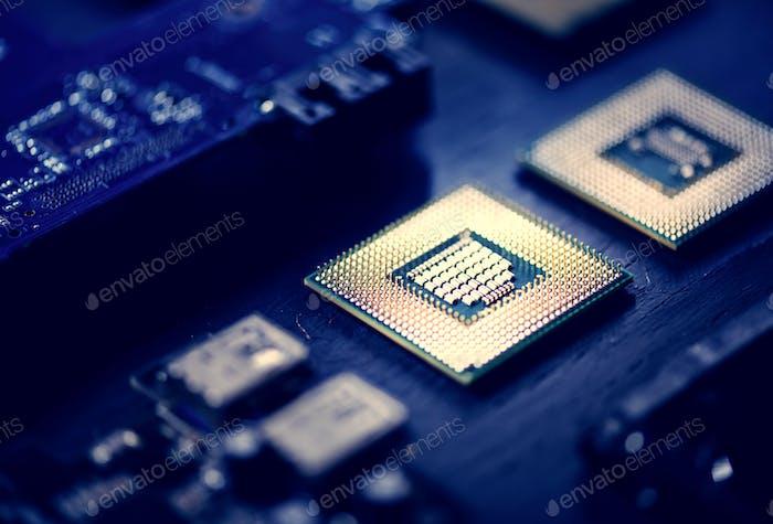 Closeup of computer processor