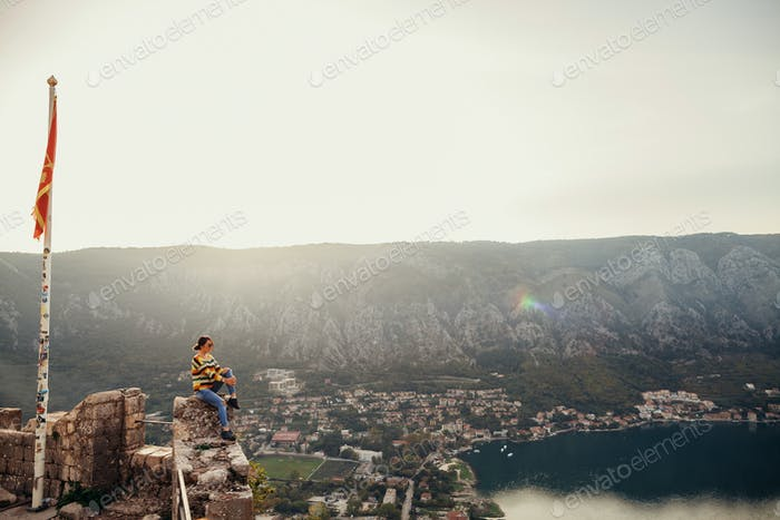 woman travel and enjoy panorama view