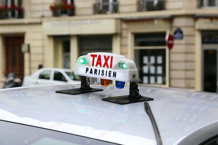 Sign of Parisian taxi