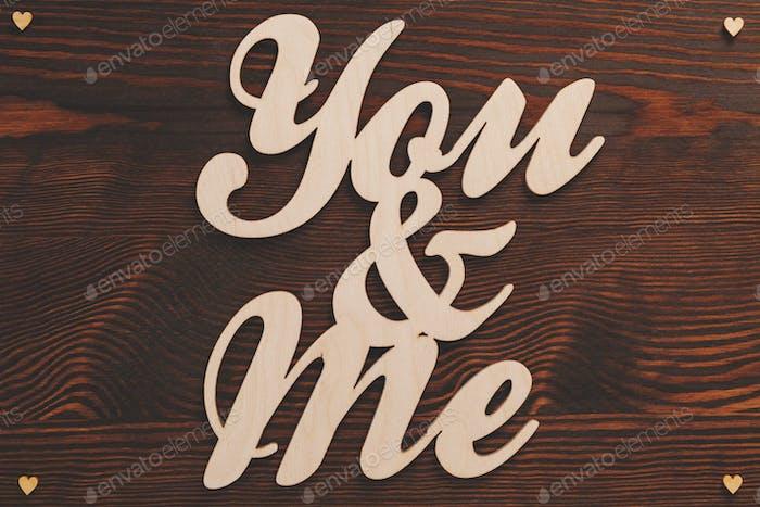 You&me Holzbuchstaben