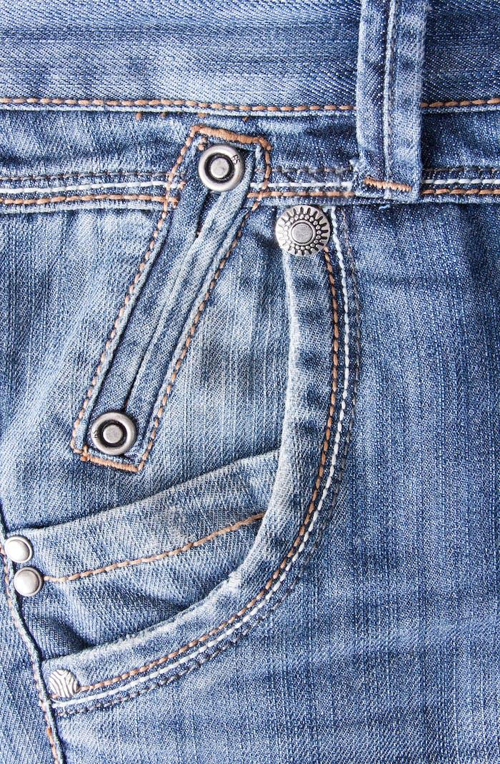 Blaue Jeans Hintergrund mit Tasche