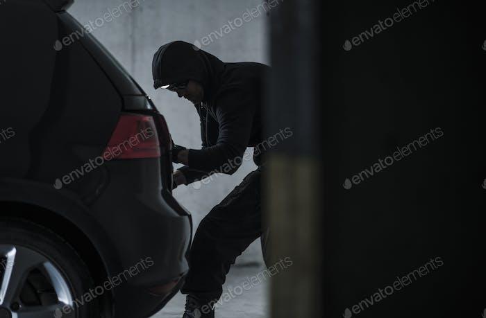 Auto Dieb Diebstahl Fahrzeug