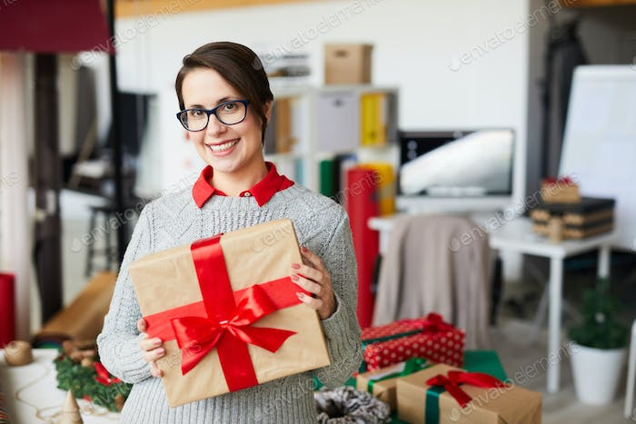 Woman with package