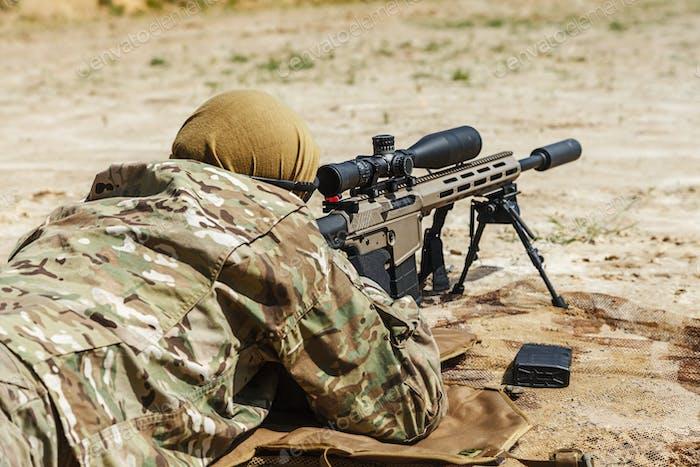 sniper in the desert