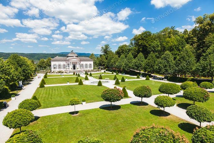 Famous Melk Abbey garden pavilion in lower Austria