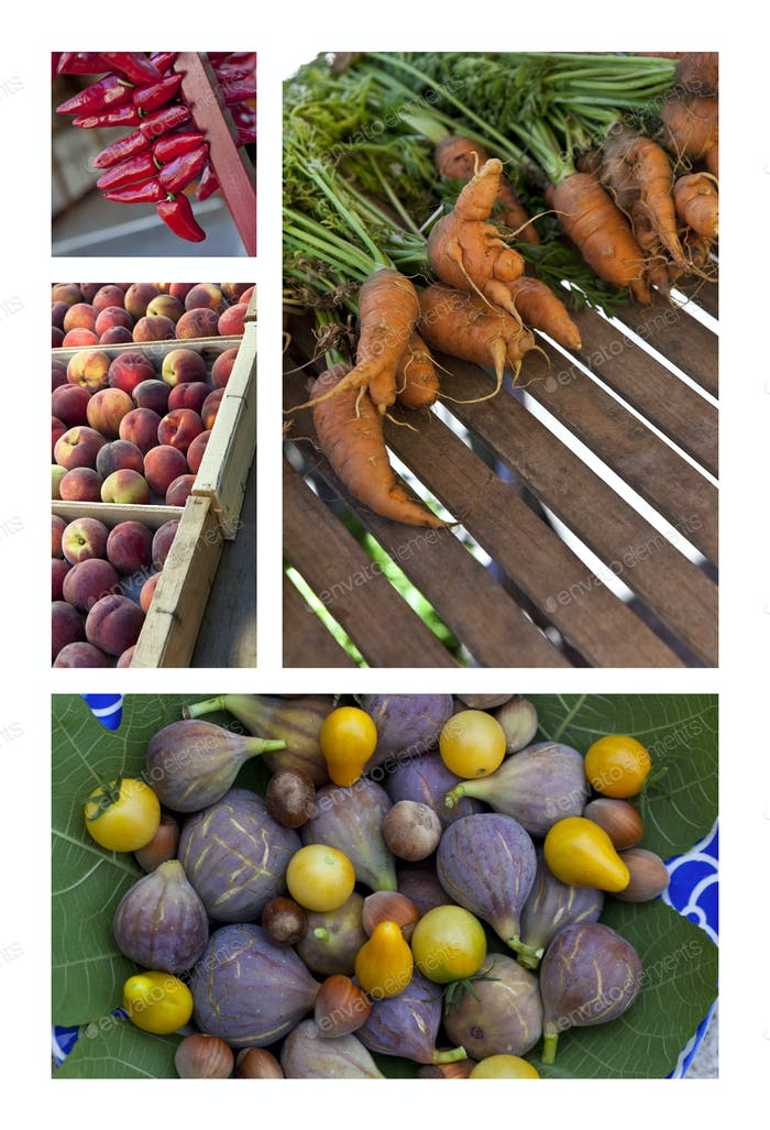 Freshness on market stalls