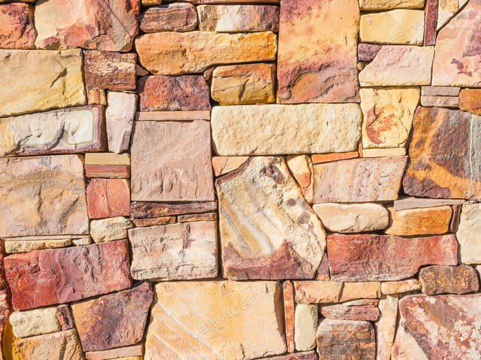 Colourful Rock Wall Background