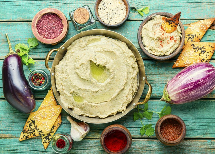 Baba ganoush,middle eastern cuisine