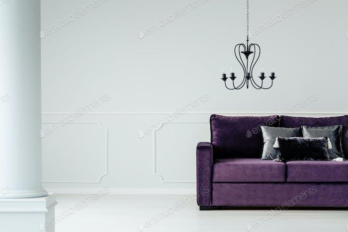 Glamour living room interior