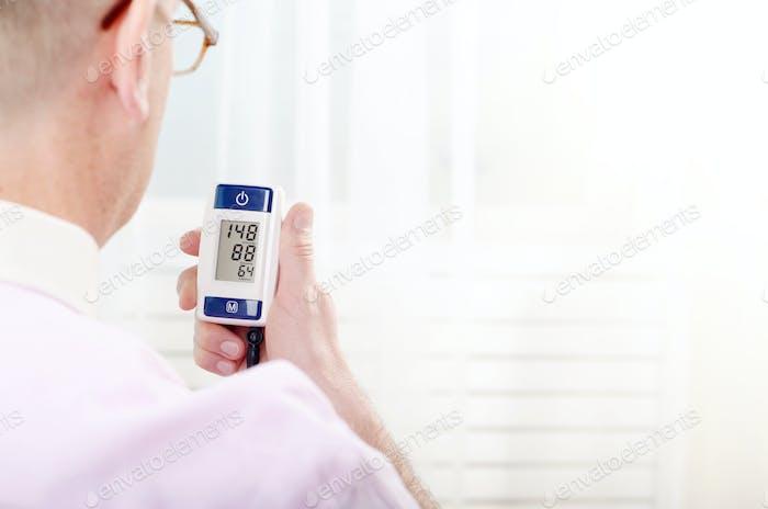 Messresultate des digitalen Blutdruckmessgerätes