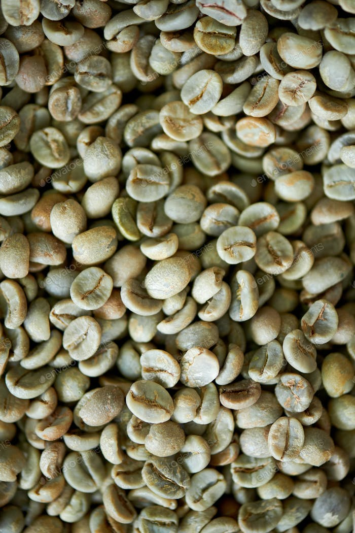 Green Coffee Beans Background