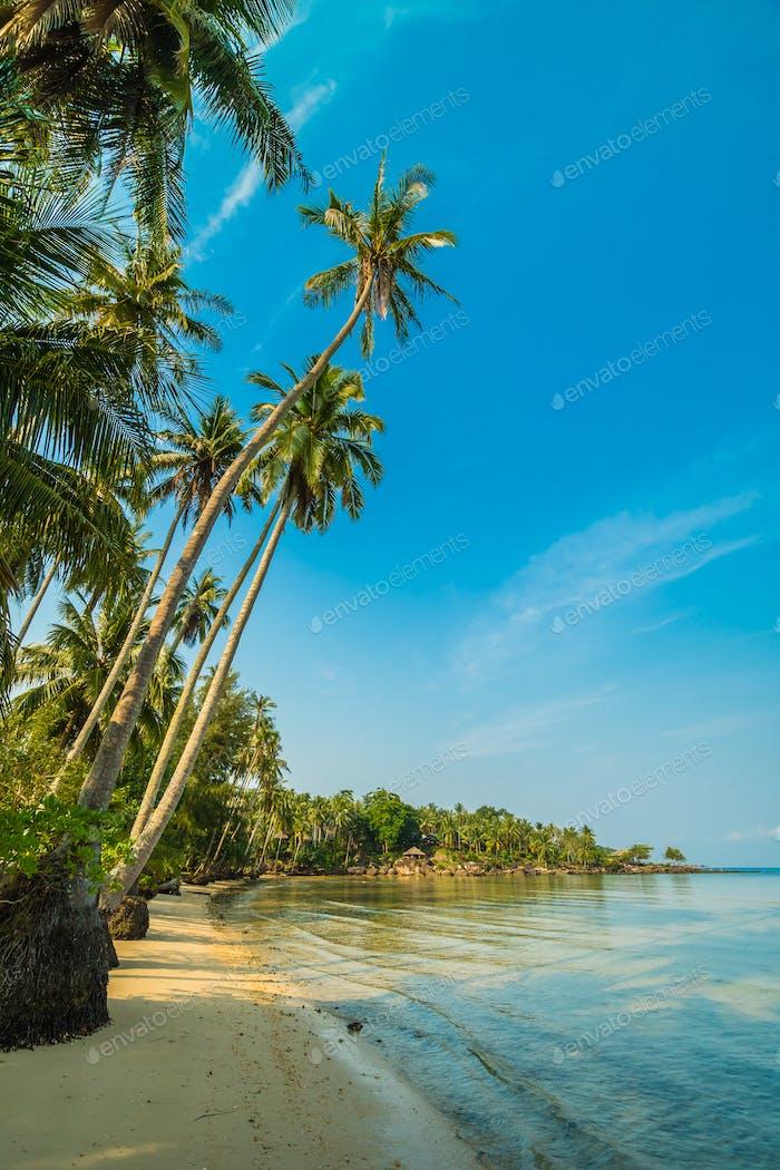 Schöne Paradiesinsel mit Strand und Meer