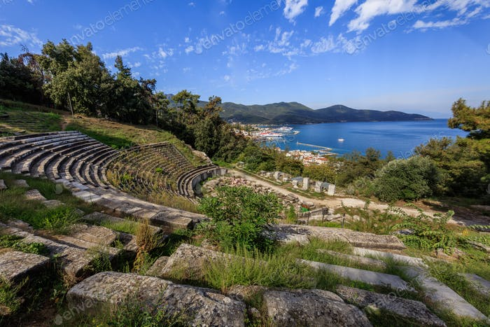 ancient theater. Limenas, Thassos