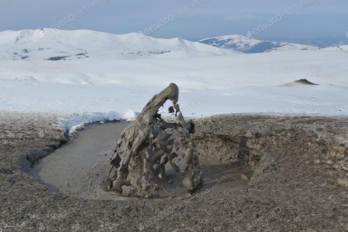 Mud Volcano In Buzau, Romania