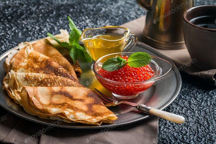 Traditional Russian pancake