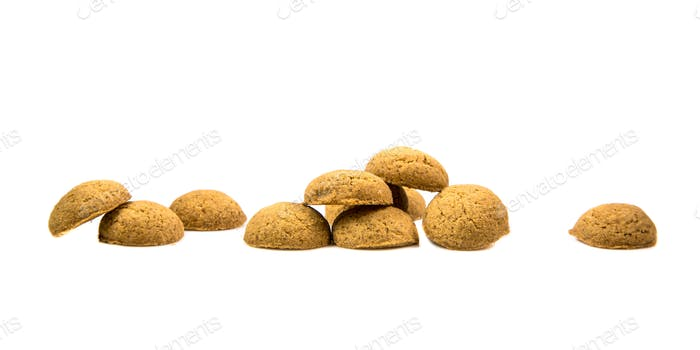 Row of Pepernoten cookies