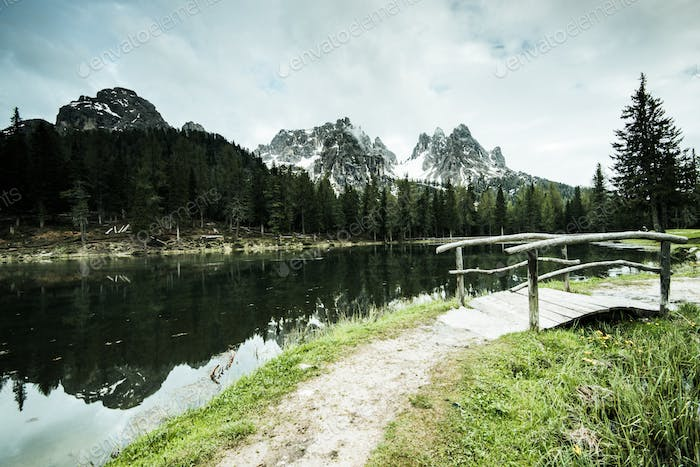 Tre Cimes di Lavaredo and Antorno Lake, Italy