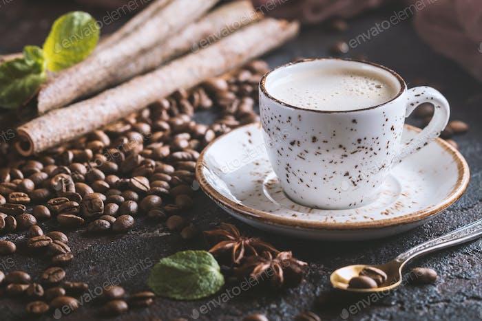 Frischer leckerer Espresso