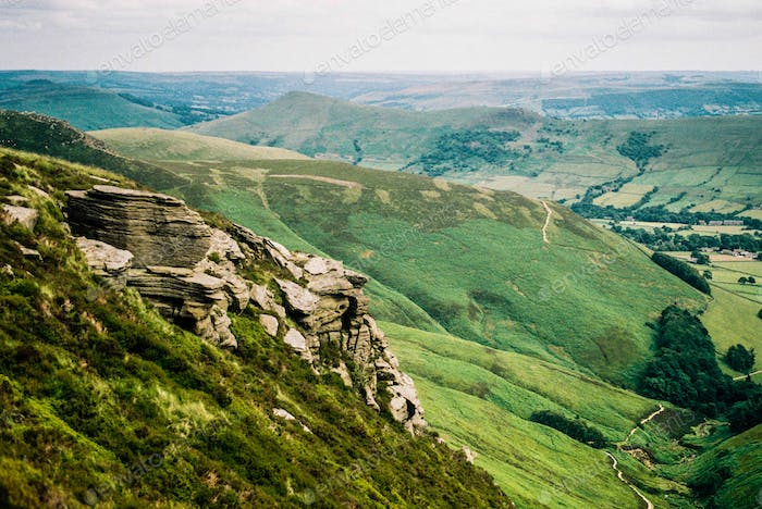 Overlooking the Peak District