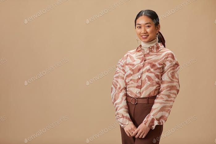 Asian elegant woman