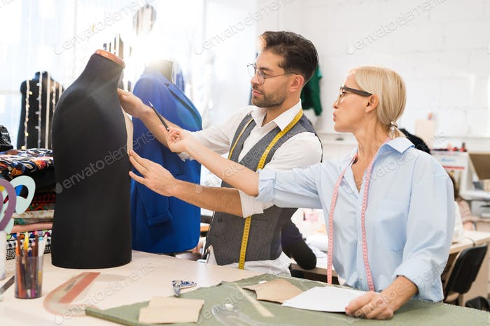 Two Dressmakers in Atelier