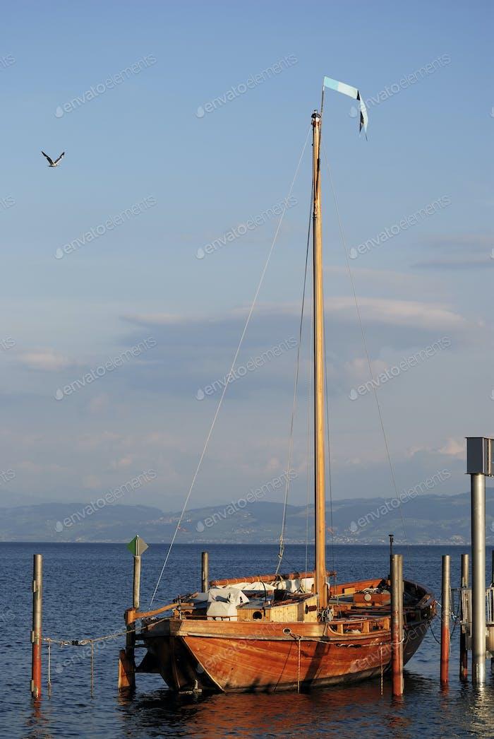 Historic sailing boat