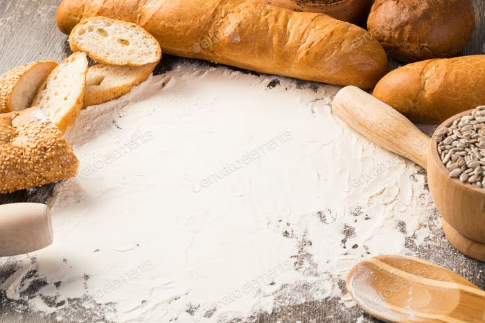flour and white bread