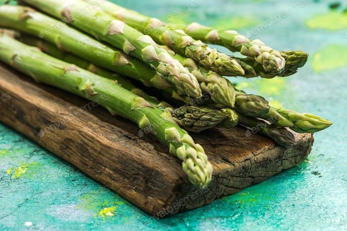 Fresh asparagus from farm to table