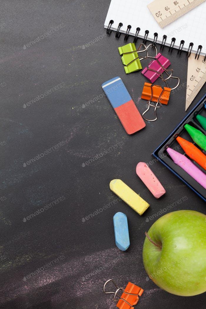 School education supplies concept