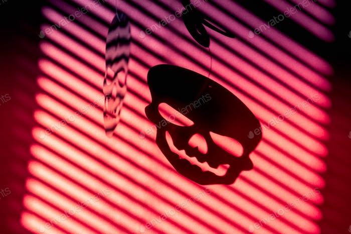 Starke Schatten des Schädels