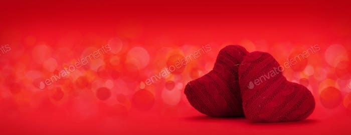 Valentines day heart decor backdrop