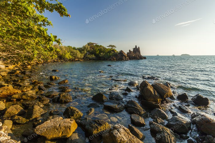 Beautiful view of the shore of a tropical island. Koh Chang. Tha
