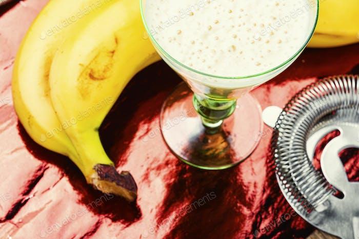 Appetitliches Bananengetränk