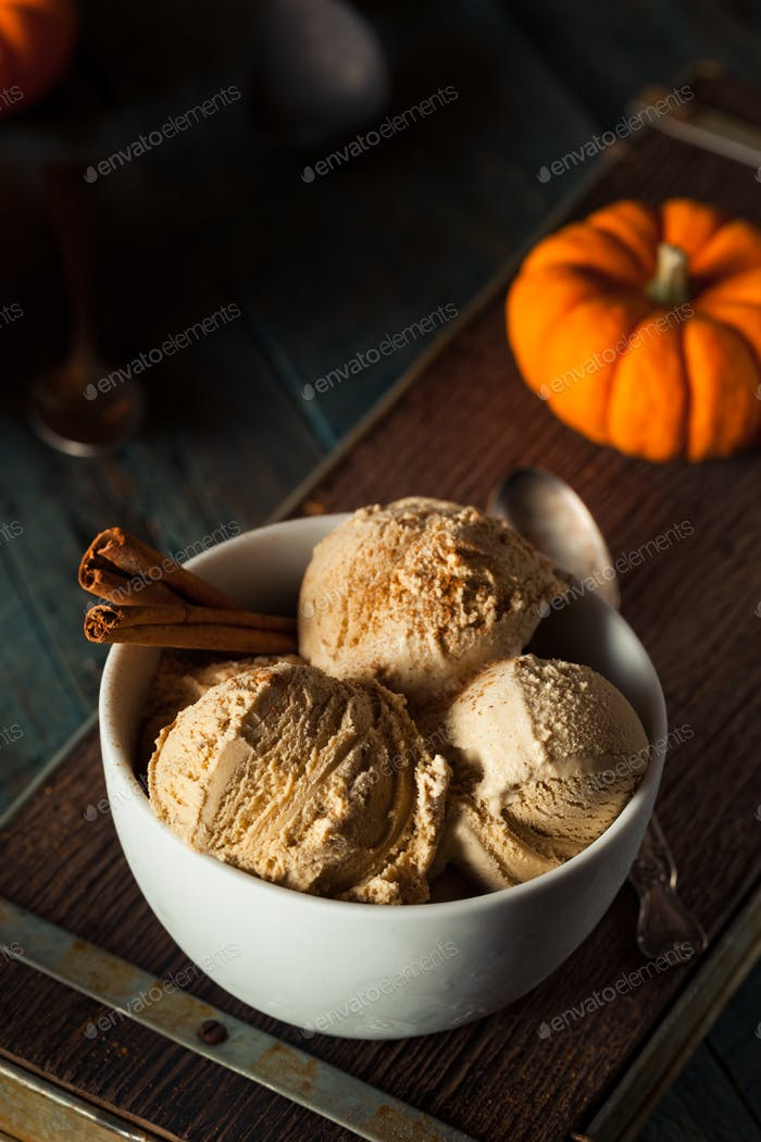 Homemade Pumpkin Pie Ice Cream