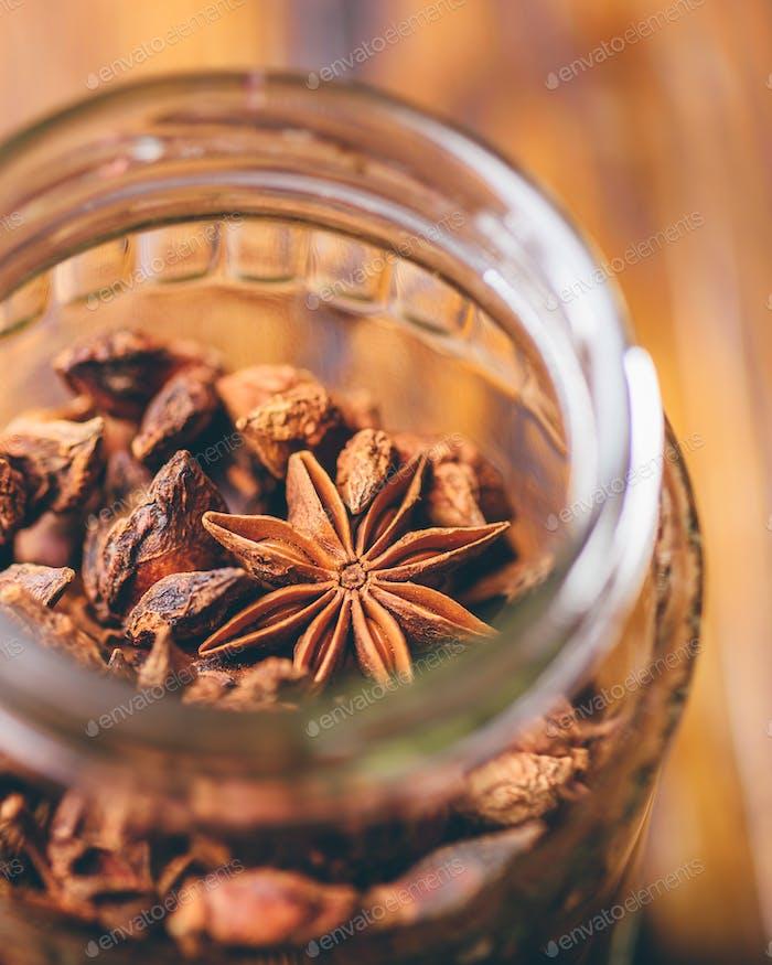 Jar of Star Aniseeds.