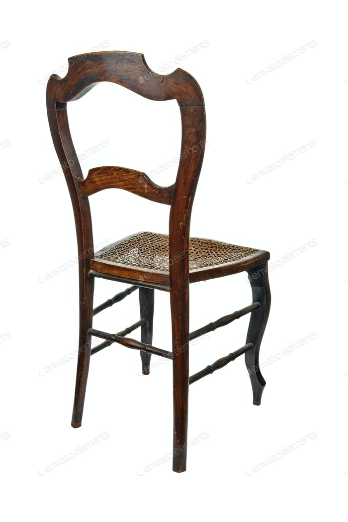 Antique wooden chair - 3/4 back view