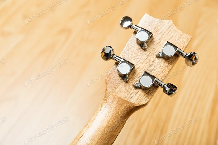 Headstock of Ukulele Hawaiian Guitar