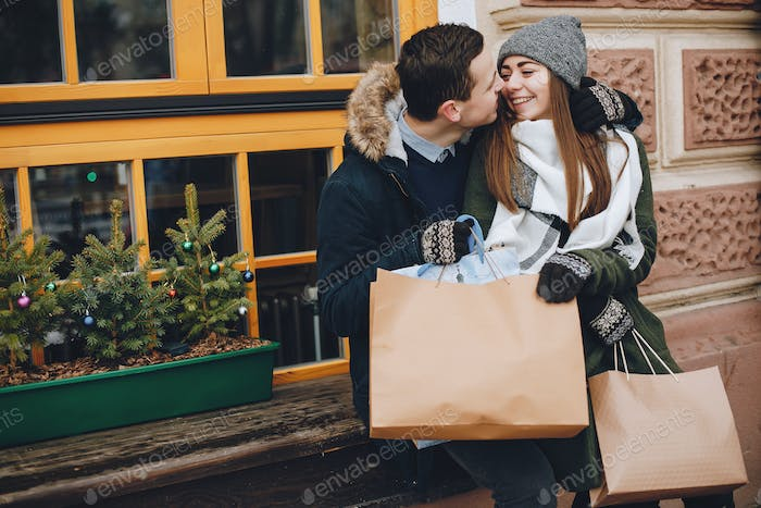 couple in a shopping