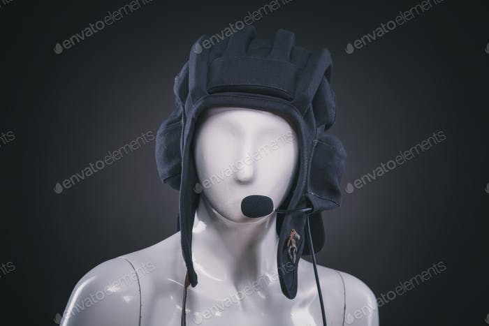 helmet on mannequin
