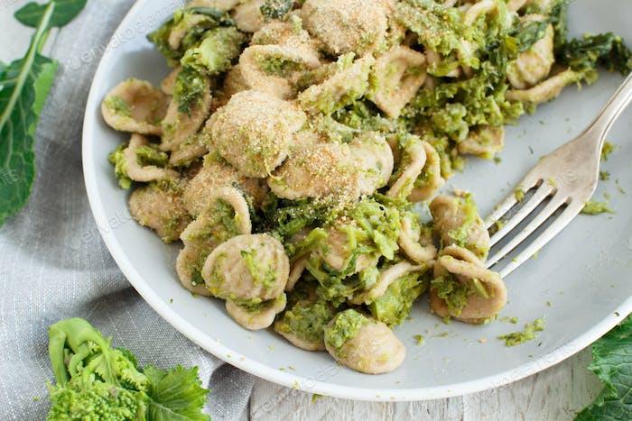 Orecchiette with turnip greens