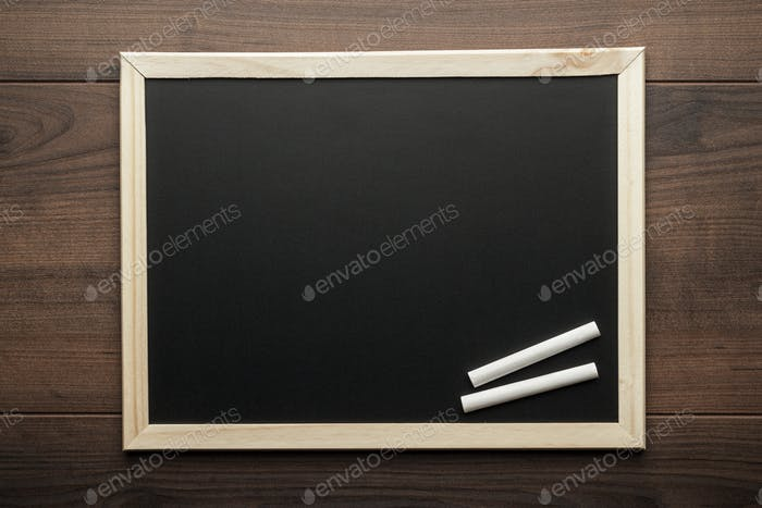 Clean Blackboard And Chalk