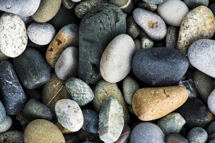 Colored Sea gravel pebbles