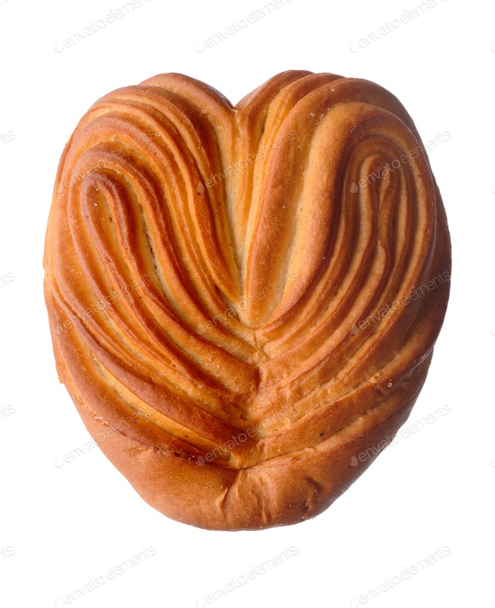Heart-shaped sweet bun