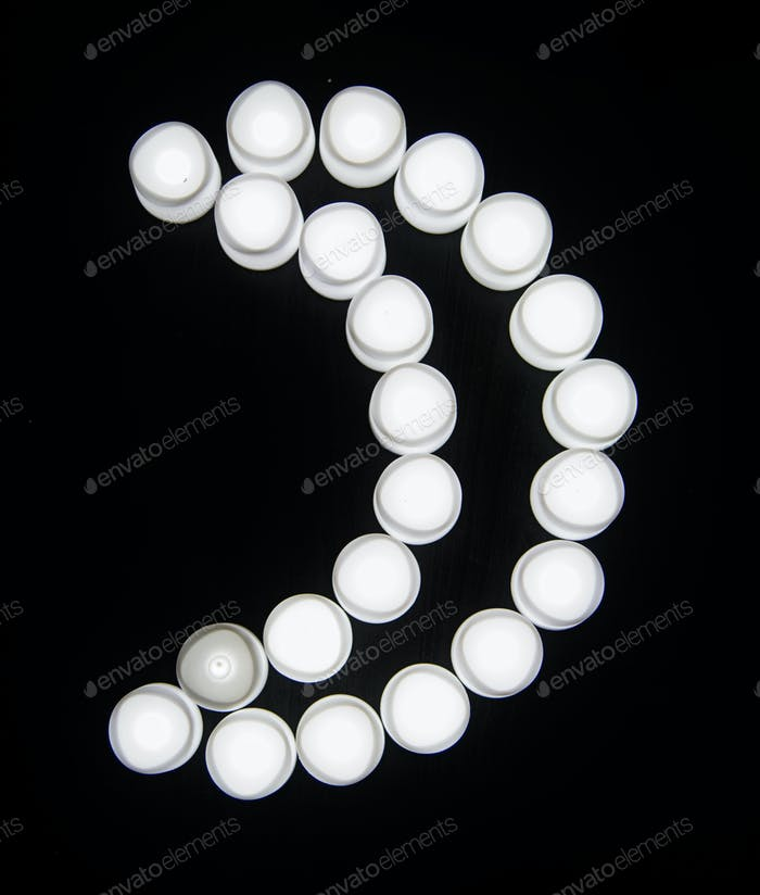 White lights cresecent moon shape