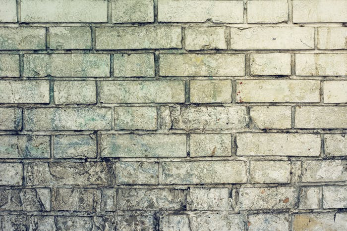 Weathered rustic white brick wall surface texture