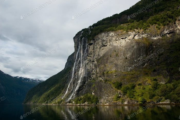 waterfall in the fjord
