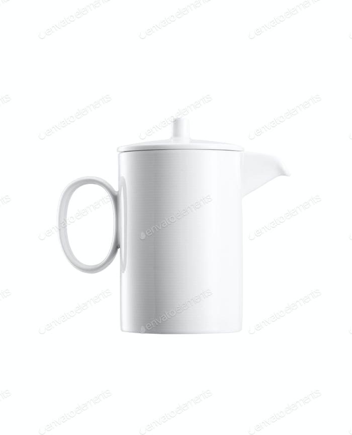 Ceramick Teekanne auf weißem Hintergrund