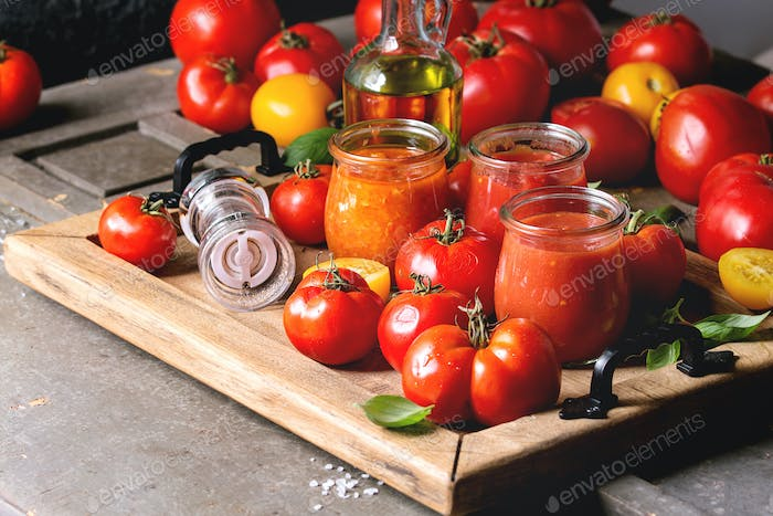 Thumbnail for Variety of tomato sauces
